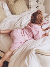 Adults Seersucker Pink Gingham Check Sleepwear Set