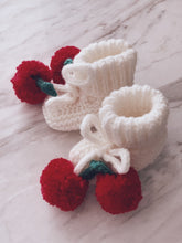 Christmas Cherry Knit Booties