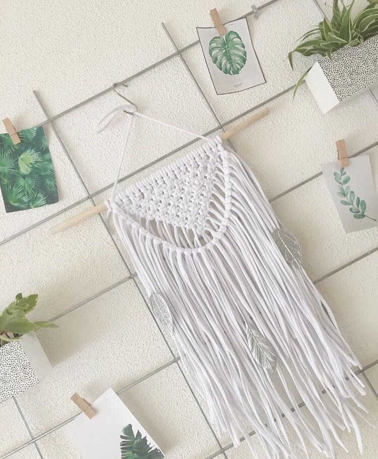 Macrame Small Wall Hanging with Fringe