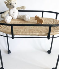 Kocoon BLACK Steel frame Moses basket stand / Changing station / Serving table (with wheels, w/o base)