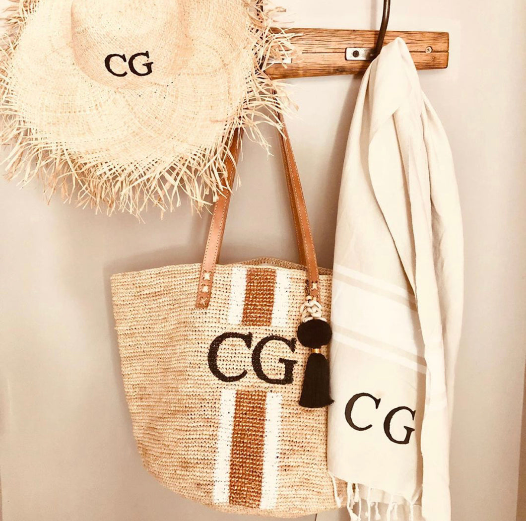 The Monogram Raffia Crochet Bag