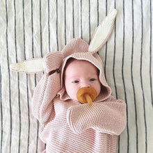 Knitted Bunny Ear Swaddle Blanket