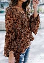 So Whimsical Drape Sleeve Blouse Brown