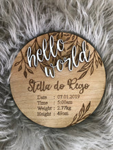 Birth Announcement Plaque Custom Made