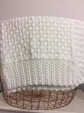 Pure Wool Baby Shawl - White