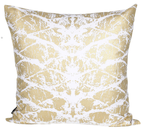 Gold Bark Print Cushion