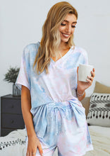 Mornings With You Purple Tie Dye Lounge Set