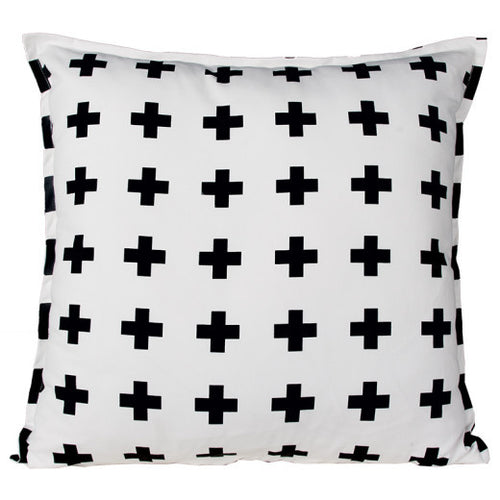 Swiss Cross Black Cushion