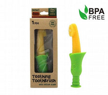 Silicone Teething Toothbrush with Suction Stand