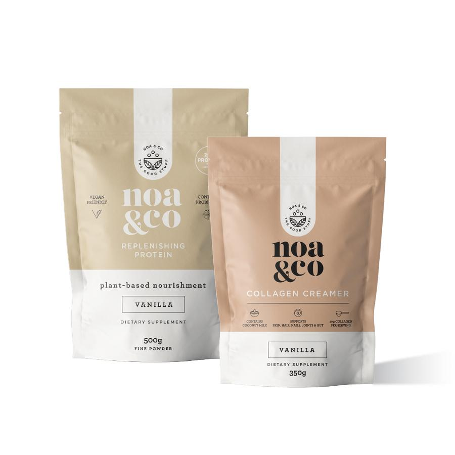 Noa & Co Vanilla Collagen + Protein Bundle