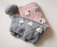 Knitted Animal Crib Blanket