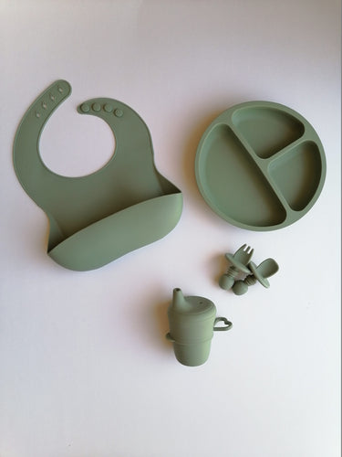 Silicone 6 piece Feeding Set - Pistachio