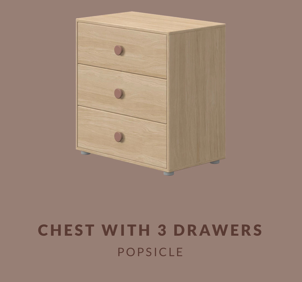 FLEXA CHEST WITH 3 DRAWERS