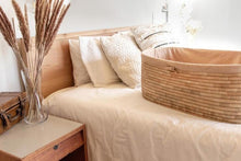 Linen set for Moses baskets (fitted liner + mattress slipcover)