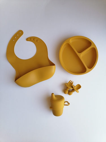 Silicone 6 piece Feeding Set - Honey