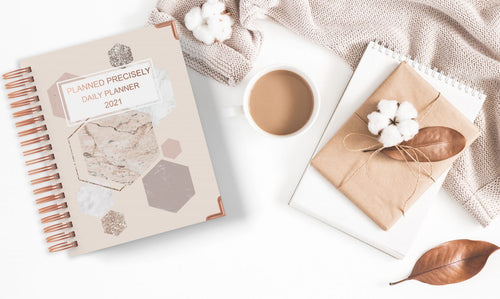 Daily Planner - Neutral Hexagon