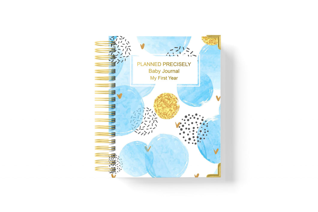 Baby Journal (My First Year) - Baby Blue