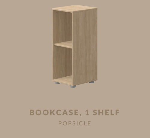 FLEXA BOOKCASE WITH 1 SHELF SMALL