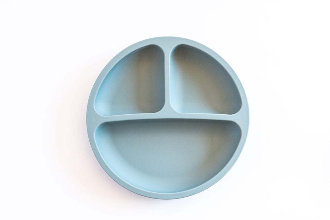 Silicone Suction Divider Plate - Denim
