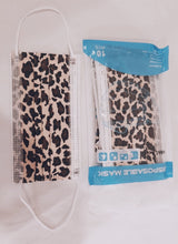 Leopard Print 3-Ply Disposable Face Mask Pack