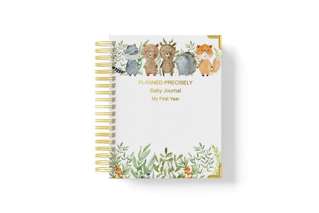 Baby Journal (My First Year) - Woodlands Creatures