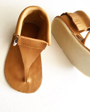 Leather Thong Moccasin Sandals