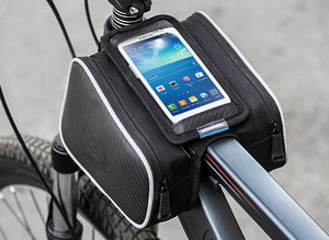 "Top Tube 2 Pockets with Phone Pouch Bag (5.5"")  - Water Resistant"