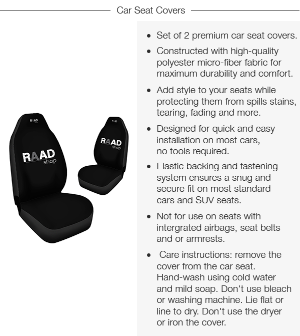 Car Seat Covers Specs