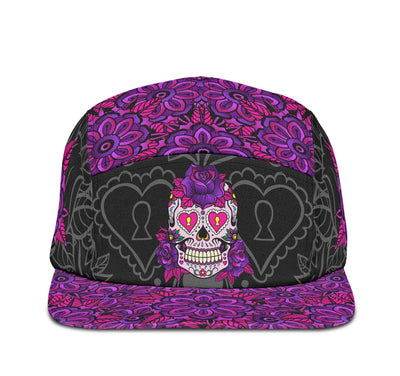 products/5PanelCap-311SugarSkullArt01095-WT-RAD-STR1.jpg