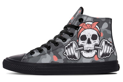 Dumbbell Skull Camo Grey Salmon