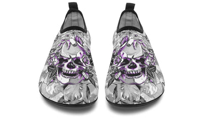 Purple Skull And Flowers