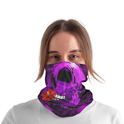 Pack Of 3 - Skull Flower In The Mouth Purple