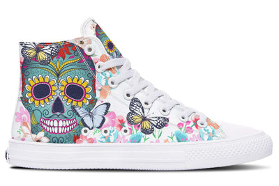 Colorful Sugar Skull And Butterfly