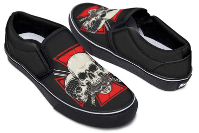 Gansta Skull Red Maltese Cross