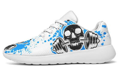 Blue Splat Skull On White