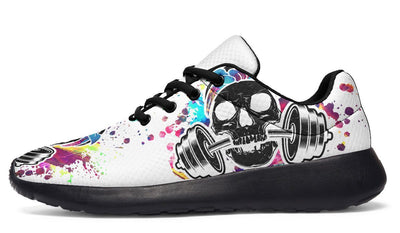 Colorful Paint Splat Skull On White