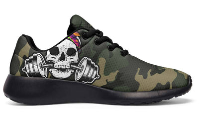 Color Halftone Dumbbell Skull Camo