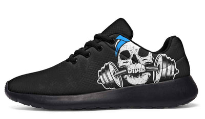 Dumbbell Skull Blue Bandana