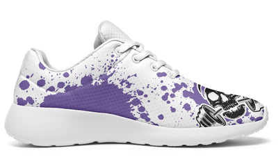 Purple Splat Skull On White