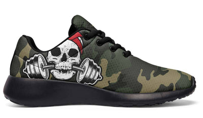Red Dumbbell Skull Camo