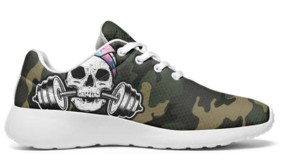 Watercolor Dumbbell Skull Camo