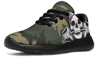 Watercolor Tie Dye Dumbbell Skull Camo
