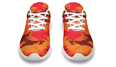 Dumbbell Skull Camo Red Orange