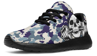 Dumbbell Skull Camo Purple Green
