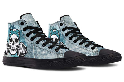 Splat Skull Blue Grey