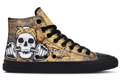 Rusty Gold Skull Splats