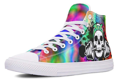 Splat Skull Electric Neon