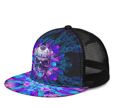 Purple Open Mouth Skull