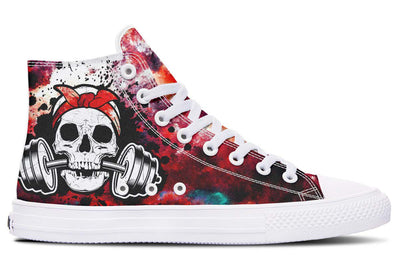 Splat Skull Cloudy Red