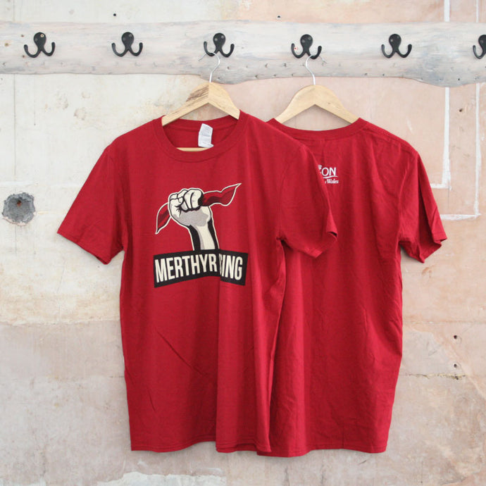 Merthyr Rising T-Shirt (Cherry Red)